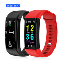 2018 NEW F07 Bluetooth Smart Band OLED Color Screen Bracelet IP68 Waterproof Swim Heart Rate Blood