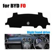 Fuwayda приборной панели автомобиля охватывает мат для BYD F0 все годы правым dashmat Pad Даш крышка авто приборной панели аксессуары