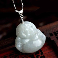 Natural Burmese Jadeite Jade The Jade Buddha Pendant With Certificate