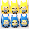 New Arrival Quality Cute 3D eyes Despicable Me Minion Plush Backpack Schoolbag Child PRE School Kid Cartoon Bag