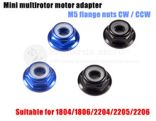Mini motor adapter M5 aluminium hochwertige flanschmuttern CW/CCW für DIY FPV racing mini drone 1804/1806/2204/2205/2206 motor