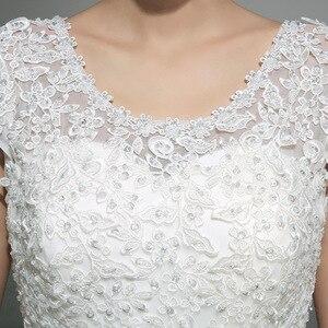 Image 5 - Новое весеннее и летнее модное свадебное платье 2020, белое свадебное платье принцессы на шнуровке в Корейском стиле, бальное платье