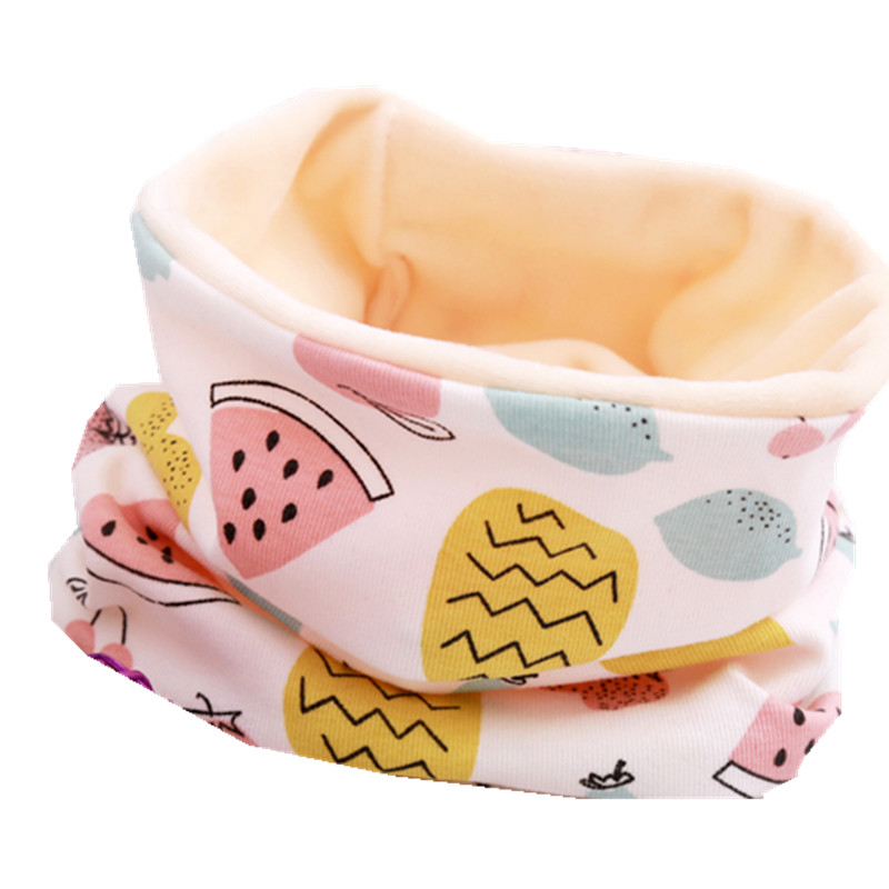 Осенне-зимний детский хлопковый плюшевый шарф, детский шарф для девочек, шарфы для мальчиков и девочек, детский воротник, детский волшебный шейный платок с круглым вырезом - Цвет: watermelon
