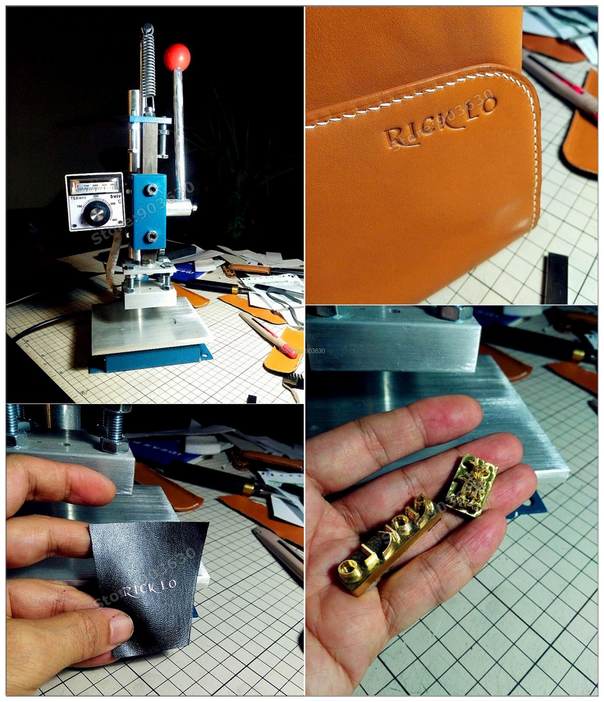 Best Quality Manual Hot Foil Stamping Machine Leather Printer Creasing Machine Marking Press Embossing Machine