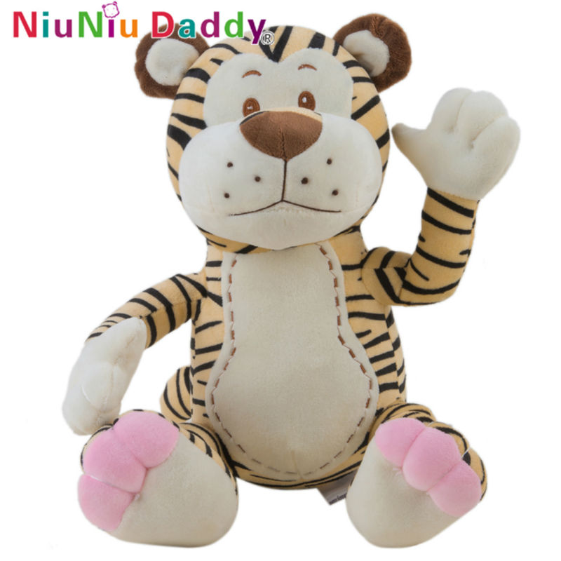 Niuniu Daddy Birthday Valentines Gift Soft Animal Toy With High Quality Stuffed Tiger Wedding Plush Toy Size 30cm Free Shipping