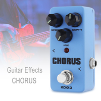 KOKKO Guitar Pedal Effect Warm Analog CHORUS Effect True Bypass Mini Electric Guitar Bass Effect Pedal Full Metal Shell