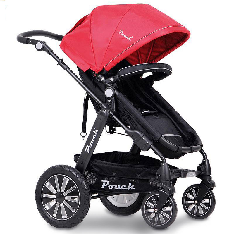 2018 Poussette Baby Stroller Luxury Baby Stroller High Landscape Strong Big Wheel Car Quality Folding Shockproof Prams super light luxury baby stroller high landscape folding baby car shockproof portable prams and pushchairs for newborns 4 2kg