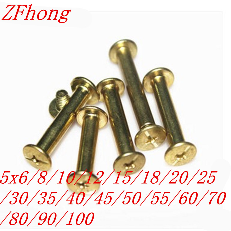 steel with brass Sex bolt chicago screw book binding post screws  5*6/8/10/12/16/20/25/30/45/50/55/60/65/70/75/80/90/100mm 1pcs m16 50 60 70 80 90 100 300 gb37 8 8 t type screw screw bolt t shaped plate screws black t slot with bolts