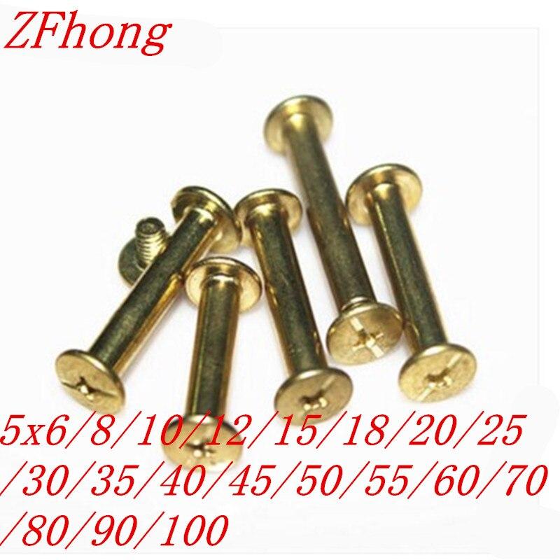 Uxcell a16041400ux0419 M5 x 35mm Brass Fastenings Phillips Countersunk Screws GB819 20 Pcs