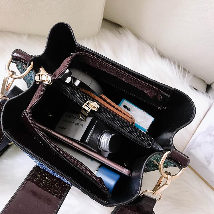 Women Patchwork Handbag Crossbody Bag Soft Leather Square Casual Ladies Chain Shoulder Girl Chain Messenger Satchel Bag louis 24