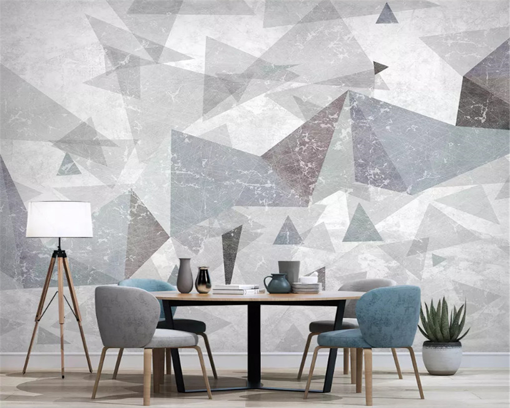 beibehang Customized modern minimalist abstract three dimensional geometric TV bedroom background papel de parede 3d wallpaper in Wallpapers from Home Improvement