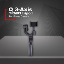 Q 3-Axis Handheld Smartphone Gimbal Stabilizer for iPhone XS XR X 8Plus 8 7P 7 Samsung S9 S8 S7 & Action Camera цена