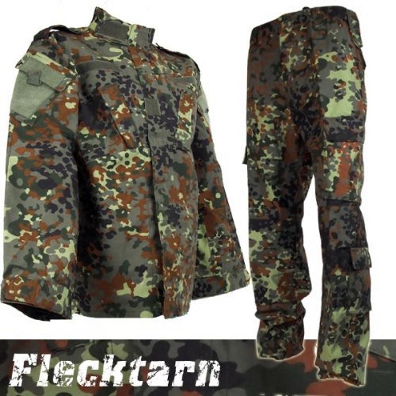 CQC Airsoft Tactical Army Military BDU Uniform Combat Shirt & Pants Set Outdoor Paintball Hunting Clothing German Camo
