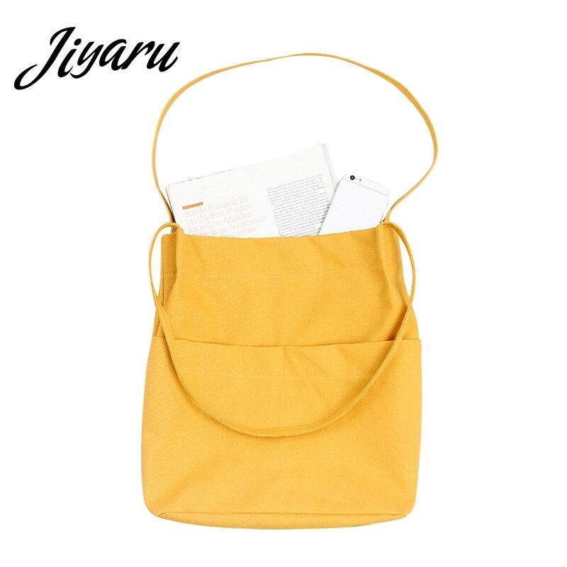 Casual Beach HandBags Women Canvas Tote Bags Handbag Eco Canvas Girls Shoulder Bags Female Solid Shopping Bags Gift HandBags