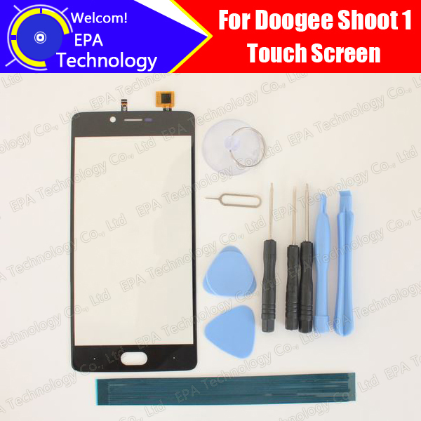 Doogee Shoot 1 Digitizer Touch Screen 100% Guarantee Original Glass Panel Touch Screen Digitizer For Shoot 1+ tools+Adhesive