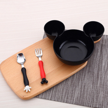 Kids Tableware Microwave Set Mose Baby Infant Cute Mouse Shape Feeding Plate Fruit Snack Dishes Kids Children Tableware Set
