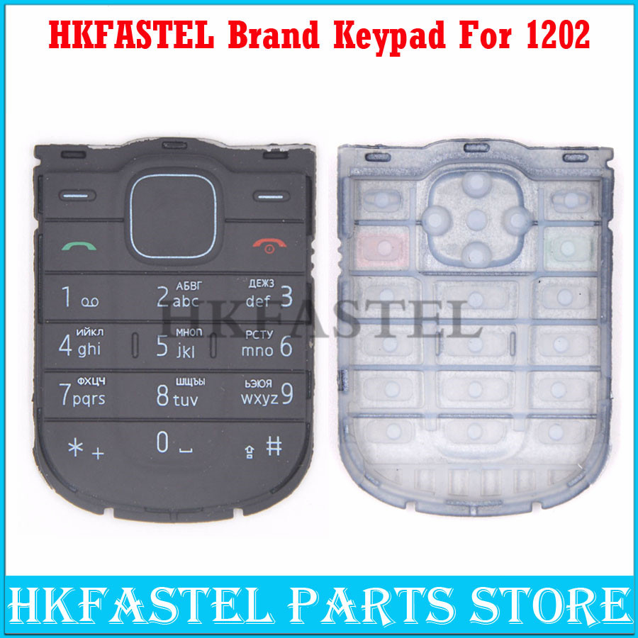 HKFASTEL New keyboard For <font><b>Nokia</b></font> <font><b>1202</b></font> replace High Quality English/Russian/Arabic Mobile Phone <font><b>housing</b></font> Keypad image