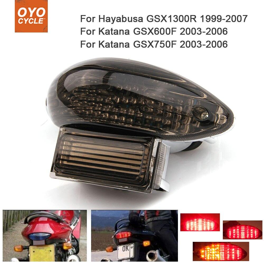Motorcycle Integrated LED Tail Light Brake Turn Signal Blinker For  Suzuki Hayabusa GSX1300R Katana GSX600F GSX750F
