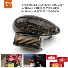 Motorcycle Integrated LED Tail Light Brake Turn Signal Blinker For  Suzuki Hayabusa GSX1300R Katana GSX600F GSX750F motorcycle front turn signal indicatior lens for suzuki hayabusa gsx1300r 1999 2007