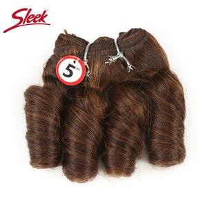 Image 4 - Sleek Colorful Hair Ombre Bundles Piano P4/30 Brazilian Hair Weave Bundles Glam Short 3PCS Curly Remy Human Hair Extensions