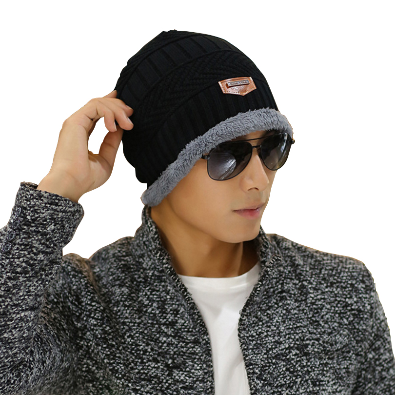Fashion Thicken Unisex Skullies Knit Men's Winter Balaclava Bonnet Women  Winter Hats For Men Beanie Warm Baggy Knitted Hat skullies