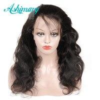 Ashimary предварительно сорвал Full Lace натуральные волосы парики объемная волна бразильского парик Волосы remy парики, кружева натуральные волосы