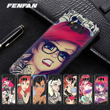 Tattoo Princess for 2017 new coque Samsung Galaxy S8 case Hard PC cover for Samsung Galaxy S6 S6 Edge S7 S7 Edge S8 case все цены