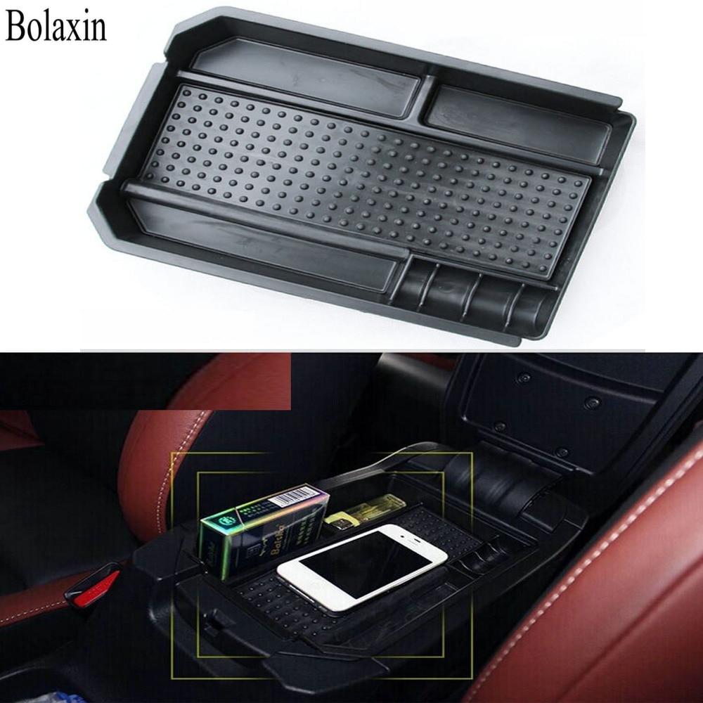 Bolaxin Latest Car Glove Box Armrest Storage Box Organizer Center Console Tray for Toyota Rav4 Rav-4 2012-2016