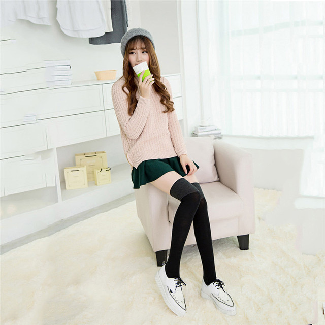Sexy Warm Socks Thigh High Over Knee Woman Long Socks Hosiery Winter Calcetines Fashion Ladies High Socks for Mujeres College