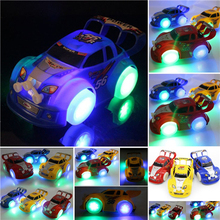 Kids Christmas Electric Car Music Racing Car Automatic Steering Flashing Car Toys New Year Car Toys Gifts