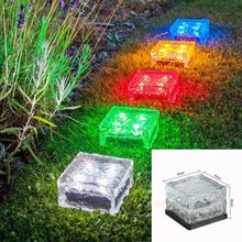 Solar LED Underground Lamp Buried Light Outdoor Light Waterproof Fountain  Path Light Swimming Pool Path Recessed