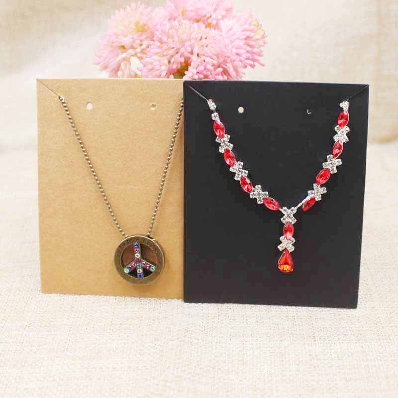 9.5*7.50cm Blank Paper Jewelry Set Card Necklace With Earring Display Card 200pcs Per Lot Kraft/black Color