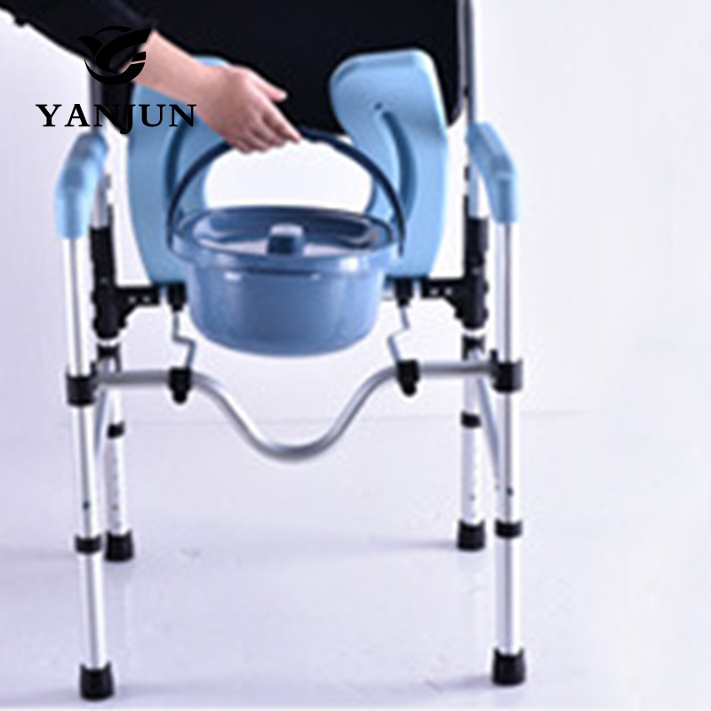 YANJUN Folding Handicapped Commode Chair Portable toilet shower ...