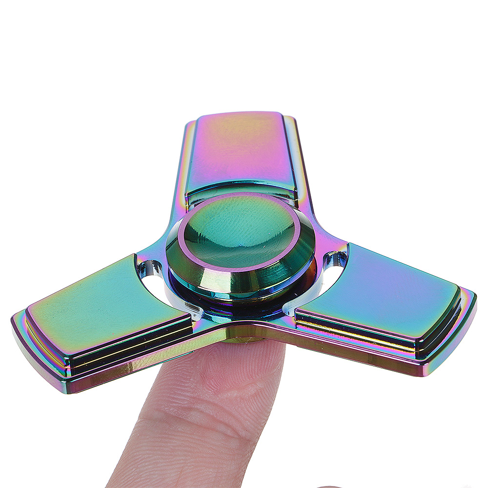 Dazzle Colour Mirror ADHD Anxiety Autism Stress Reducer Fidget Hand Tri Spinner