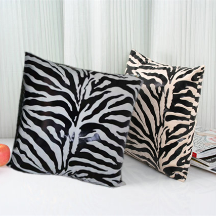 Wholesale super soft short plush zebra pattern soft for Housse de coussin 60x60