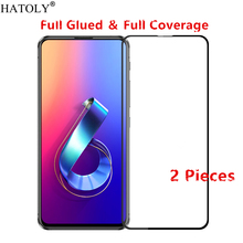 2Pcs Asus Zenfone 6 ZS630KL Glass Tempered Glass for Zenfone 6 ZS630KL Film Full Glue Screen Protector Asus Zenfone 6Z ZS630KL цена