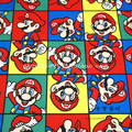 90*142CM patchwork Canvas fabric cartoon Super Mario Bros fabric for Tissue Kids Bedding home textile school bag for Sewing