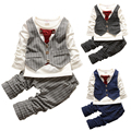2016 Children Clothes Fashion Baby Boy Clothes Sets Gentleman Suit Toddler Boys Clothing Set Long Sleeve Kids Clothes Set Infant