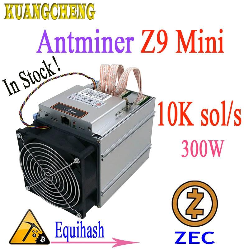 ZCASH/ZEC mineur Antminer Z9 Mini 10 k Sol/s 300 W Equihash sans puissance en stock! Mineurs sont mieux que S9 L3 T9 + quoi de plus m3