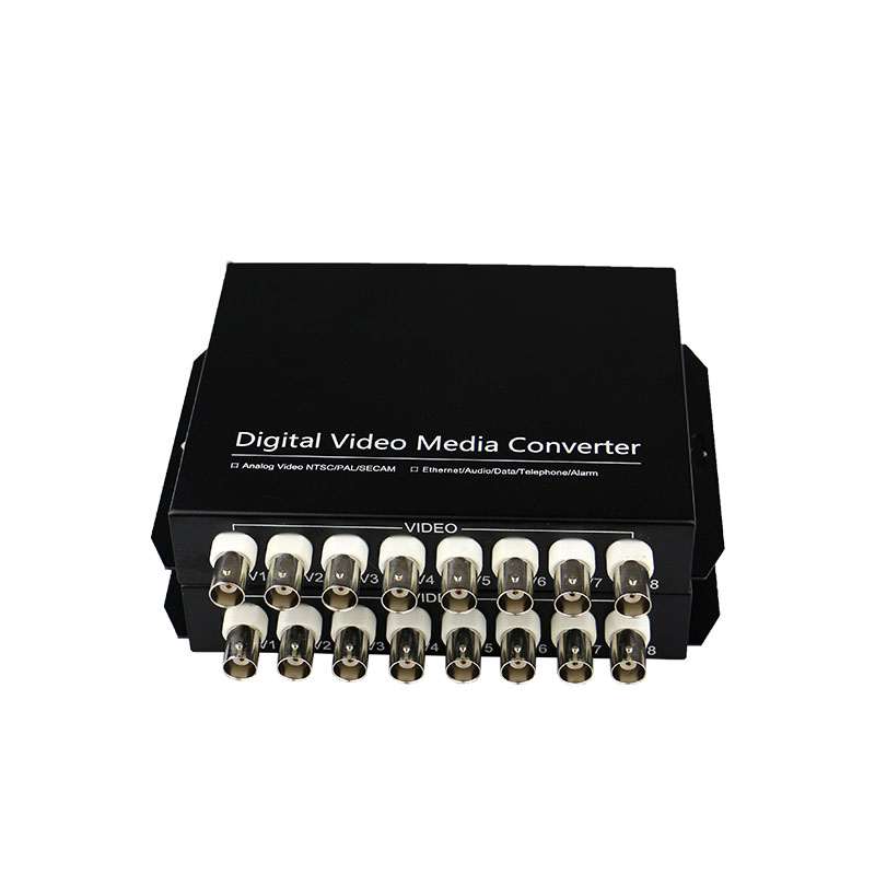 8-channel Digital Video Optical Transceiver Single-fiber Single-mode Fiber Optic Converter FC 20KM