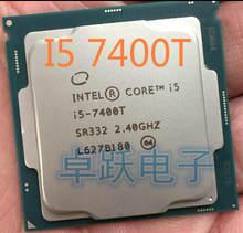 Orijinal Intel Core I5 7400T QS sürüm dört çekirdekli 2.4GHz 6MB önbellek I5-7400T LGA1151 işlemci işlemci ücretsiz kargo