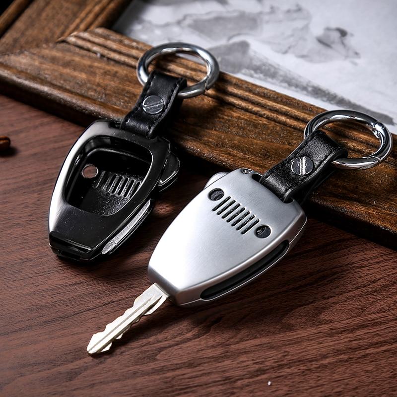 SHINEKA Key Chain Ring Shell Cover Case Frame for Jeep Wrangler JK 2008-2017 for Jeep Compass 2008-2015 Patriot 2011-2015 silver black car key bag holder cover frame for jeep wrangler 2008 2017 for jeep compass 2008 2015 for jeep patriot 2011 2015