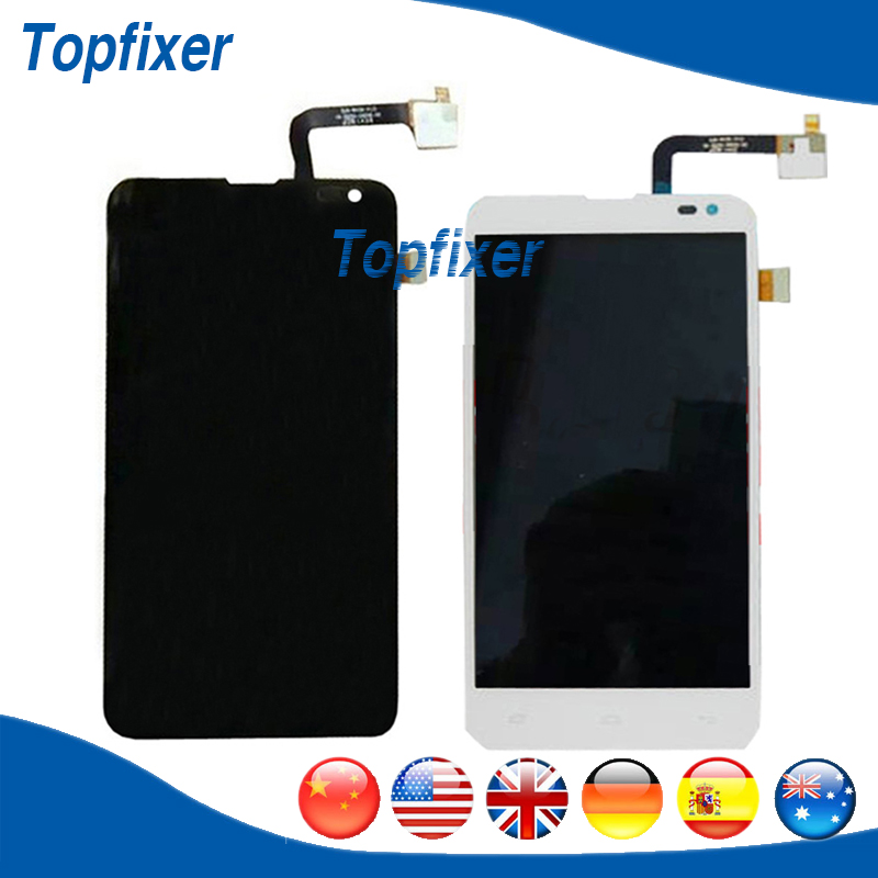 ФОТО For Fly IQ4514 EVO Tech 4 Touch Screen Panel and LCD Display Digitizer Completed 1PC/Lot