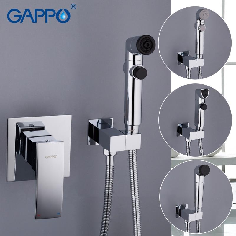 GAPPO Bidets hygienic shower washer tap mixer toilet shower sprayer wall mounted muslim bidet shower set