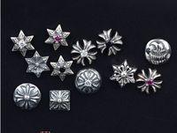 Taifuku Silver Thai Silver Retro S925 Pure Handmade Silver Tremella Nail Thailand Chiang Mai Earrings Fake