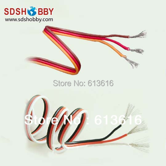 DIY Futaba JR Color 22 22AWG Servo Extension Cable Flat Cable 1M without Connector