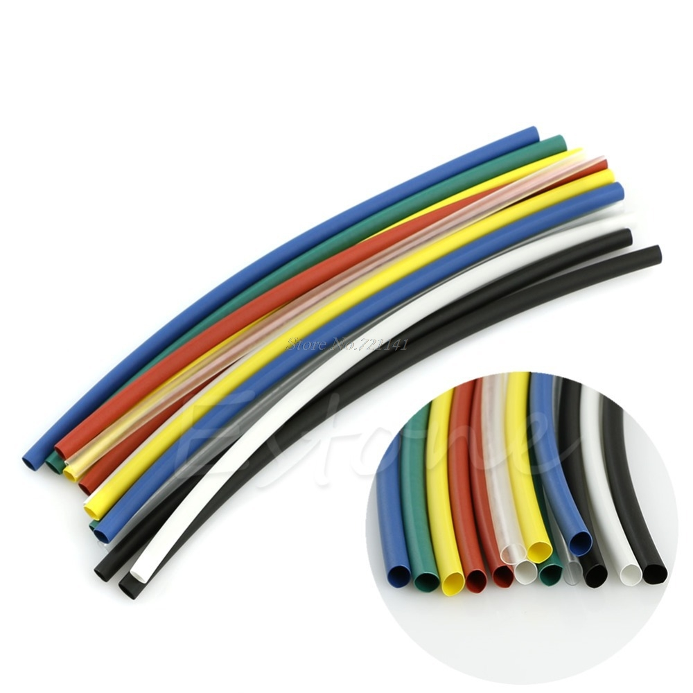 70pcs Assortment 2:1 Heat Shrink Tubing Tube Sleeving Wrap Wire Cable 5 Size New Dropship