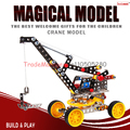 Free shipping Metal assembled fancy toy truck crane crane model alloy DIY disassembling specials