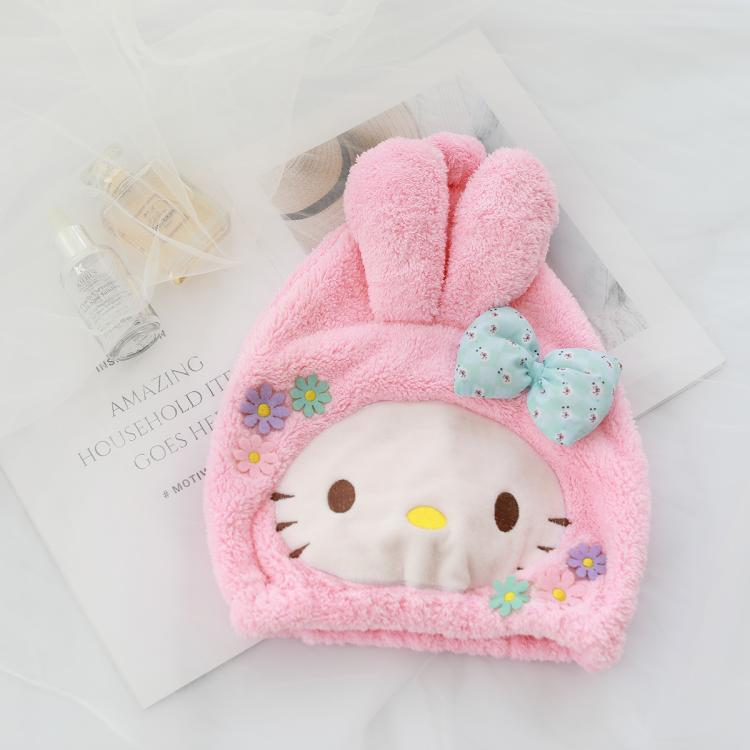 1pc Cute Cartoon My Melody Cinnamoroll Shower Caps For Ladies Baths And Saunas Lace Elastic Band Cap Spa Cap Women Kids Hair