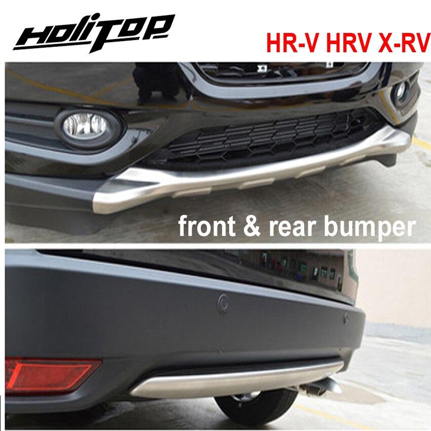 for Honda HR V HRV X RV front rear bumper skid plate 2pcs set best stainless